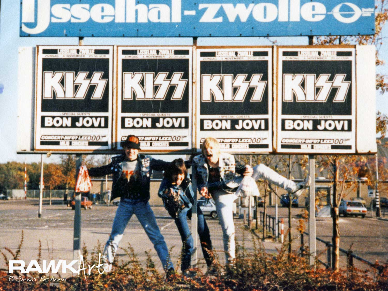 Me and my friends posing for the IJsselhallen, Zwolle, Netherlands 1984, Animalize