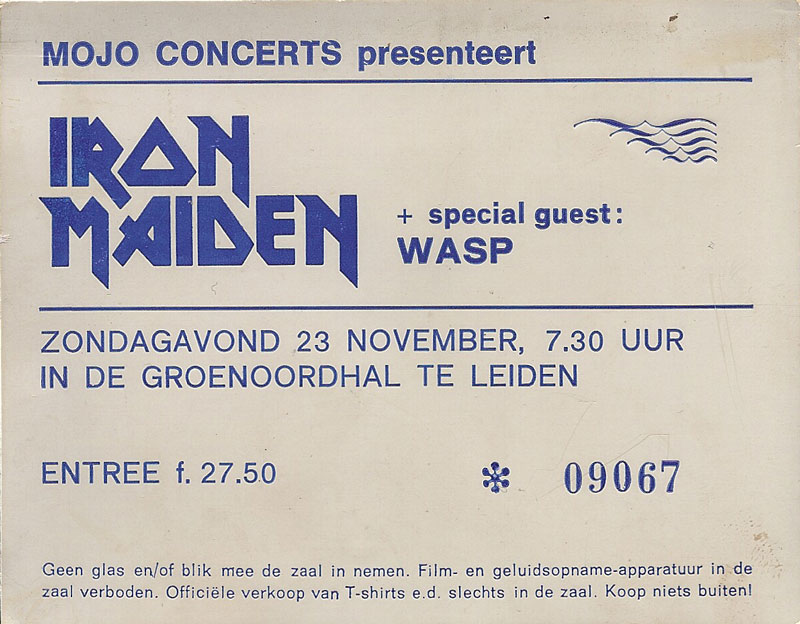 Iron Maiden at Groenoordhallen, Leiden, Netherlands 1986, Somewhere On Tour