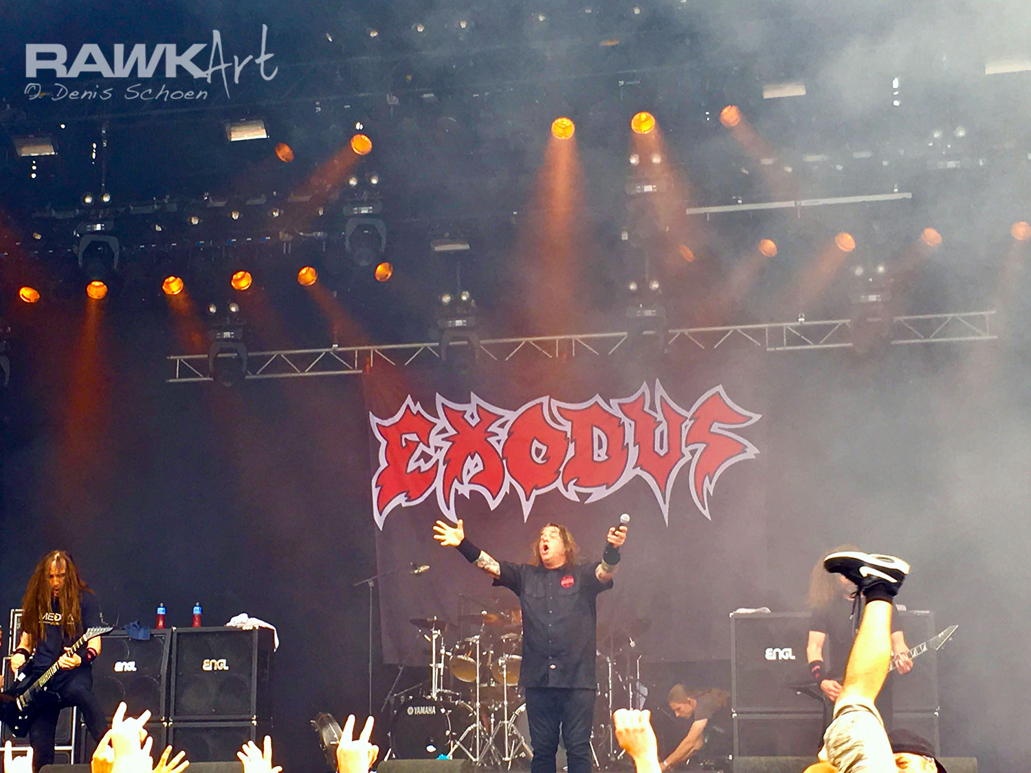 Exodus at Dynamo Metal Fest 2017, during their 'Blood In, Blood Out-tour