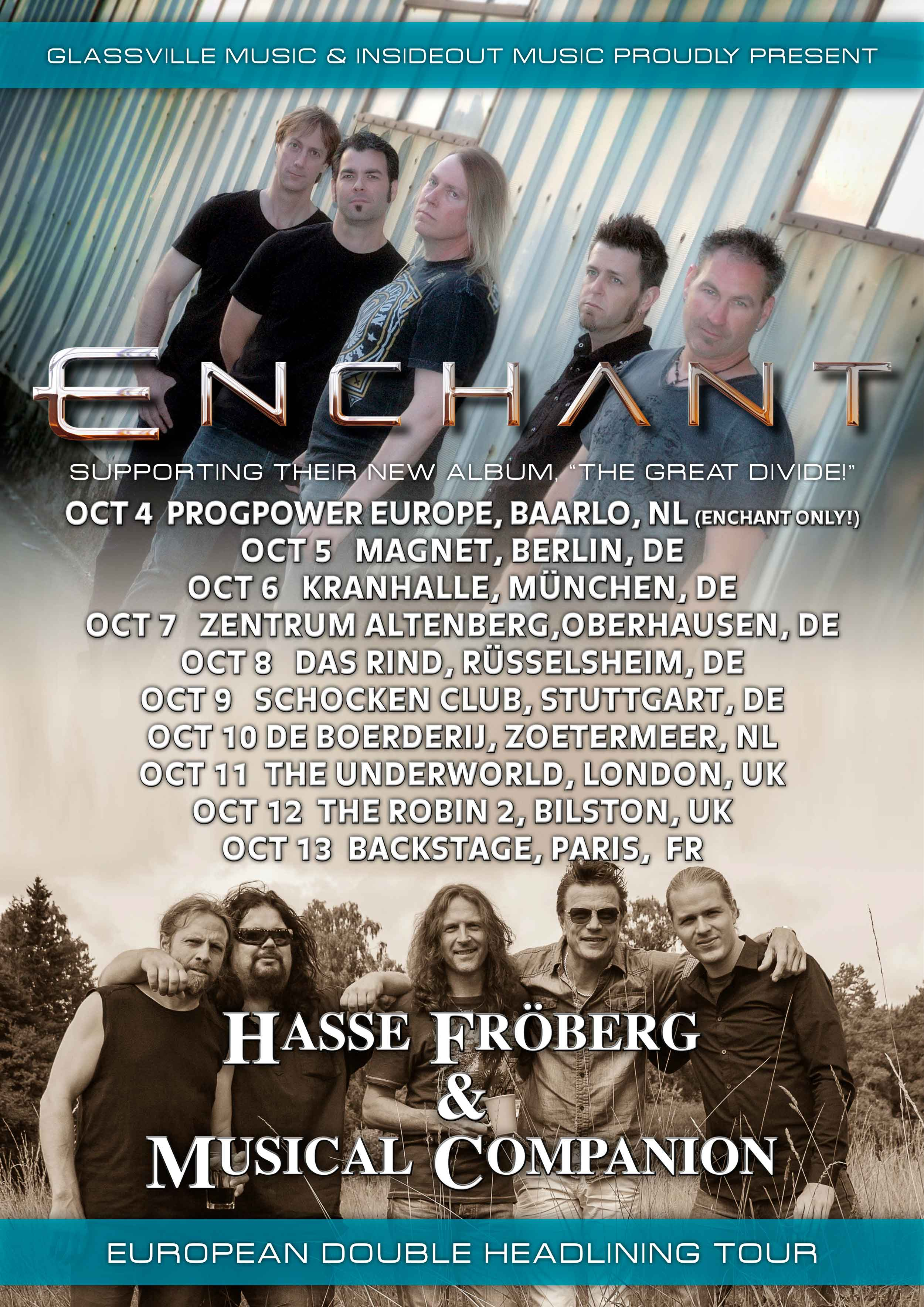 Enchant & Hasse Fröberg 2015 Tour